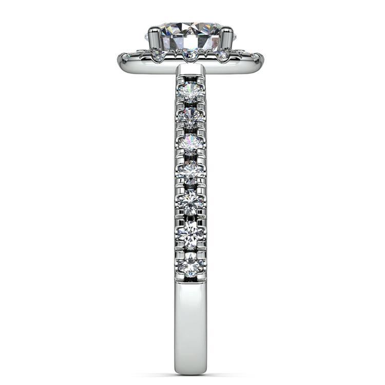 Square Halo Diamond Engagement Ring in Platinum (1/2 ctw) | 03