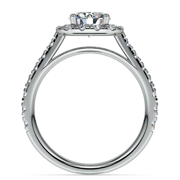 Square Halo Diamond Engagement Ring in White Gold (1/2 ctw) | 02