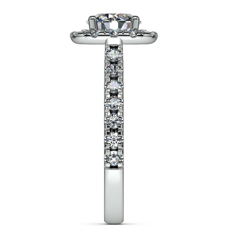 Square Halo Diamond Engagement Ring in White Gold (1/2 ctw) | 03