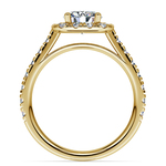 Square Halo Diamond Engagement Ring in Yellow Gold (1/2 ctw) | Thumbnail 02
