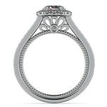 Sunrise Halo Diamond Engagement Ring In Platinum | Thumbnail 02