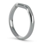 Swirl Diamond Engagement Ring & Wedding Band Set In Platinum  | Thumbnail 05