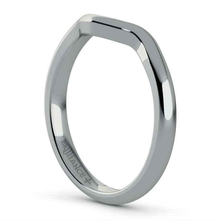 Swirl Diamond Engagement Ring & Wedding Band Set In Platinum  | 05