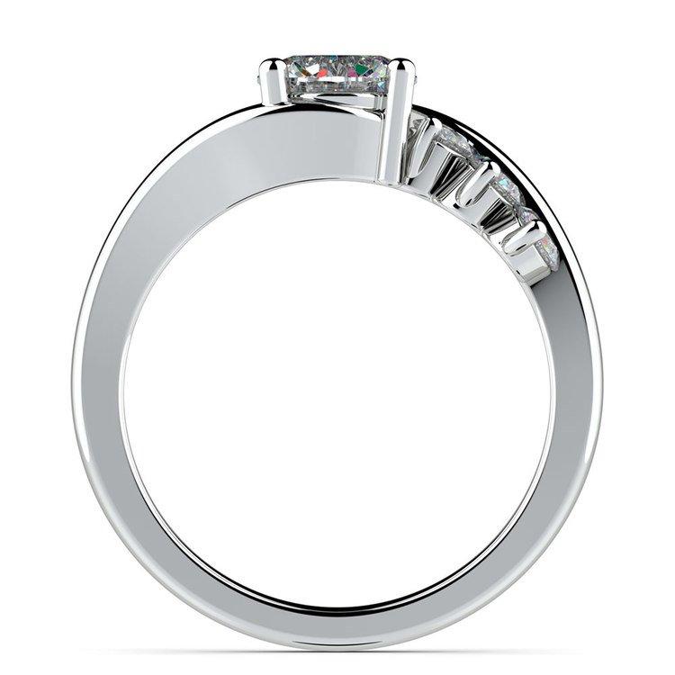 Swirl Style Diamond Engagement Ring in Platinum | 02