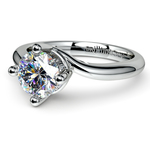 Swirl Style Solitaire Engagement Ring in Platinum | Thumbnail 04