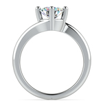 Swirl Style Solitaire Engagement Ring in White Gold | Thumbnail 02