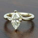 Swirl Style Solitaire Engagement Ring in Yellow Gold | Thumbnail 05