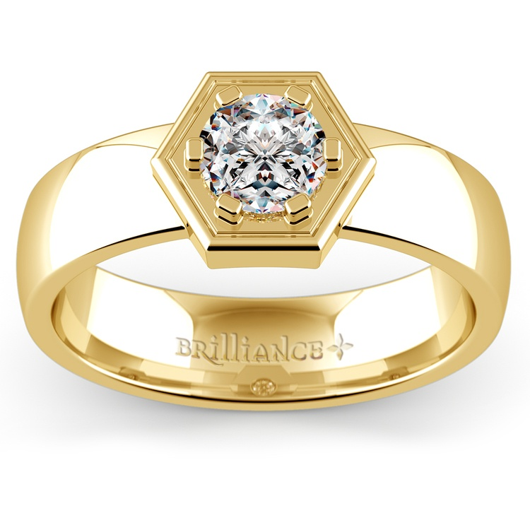 Talos Solitaire Mangagement™ Ring in Yellow Gold (3/4 ctw) | 01