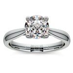 Taper Solitaire Engagement Ring in Palladium | Thumbnail 01