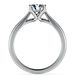 Taper Solitaire Engagement Ring in Palladium | Thumbnail 02