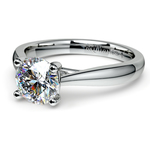 Taper Solitaire Engagement Ring in Palladium | Thumbnail 04