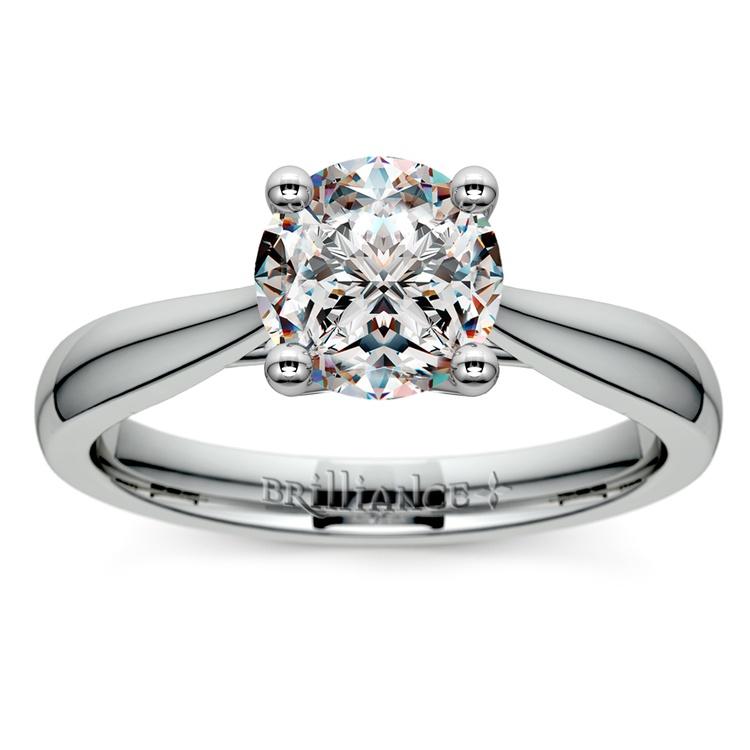Taper Solitaire Engagement Ring in Platinum | 01
