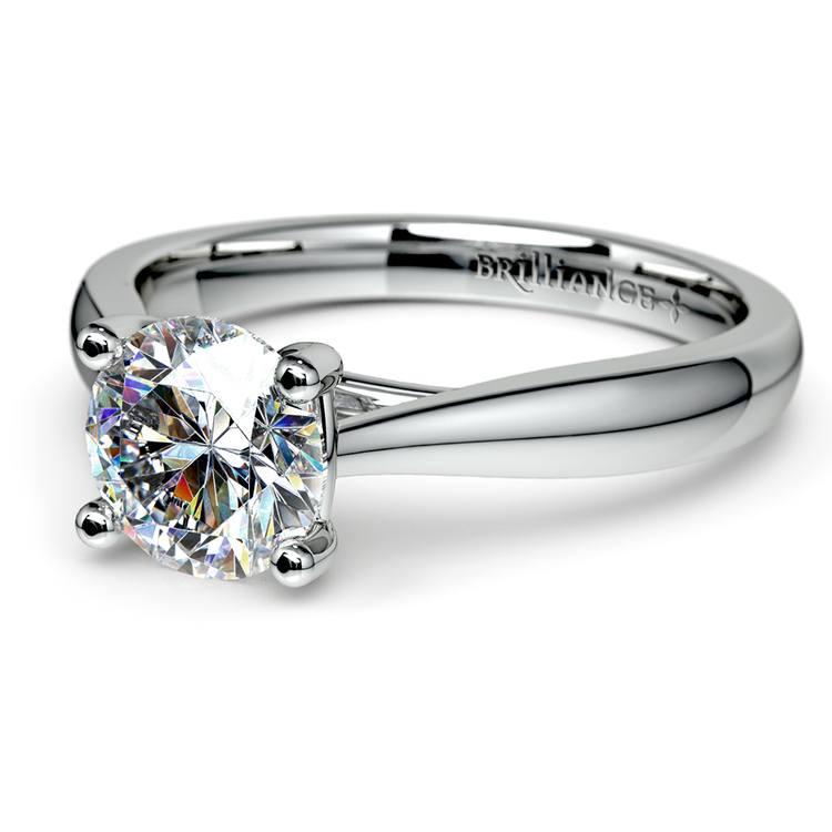Taper Solitaire Engagement Ring in Platinum | 04