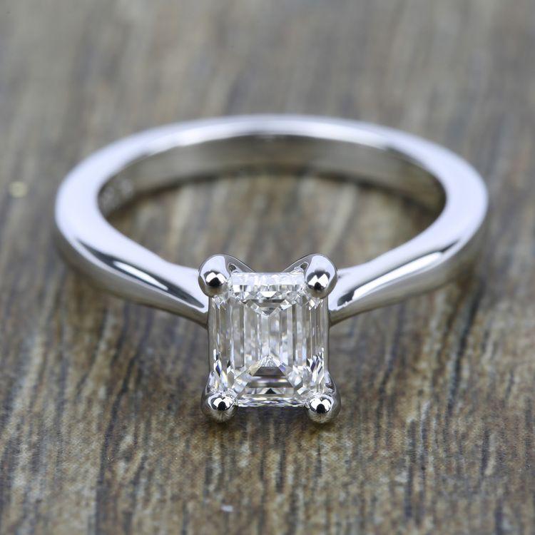 Taper Solitaire Engagement Ring in Platinum | 05