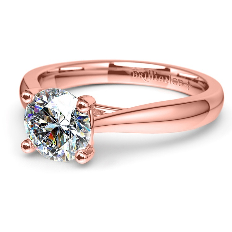 Taper Solitaire Engagement Ring in Rose Gold | 04