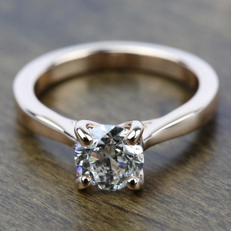 Taper Solitaire Engagement Ring in Rose Gold | 05
