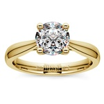 Taper Solitaire Engagement Ring in Yellow Gold | Thumbnail 01