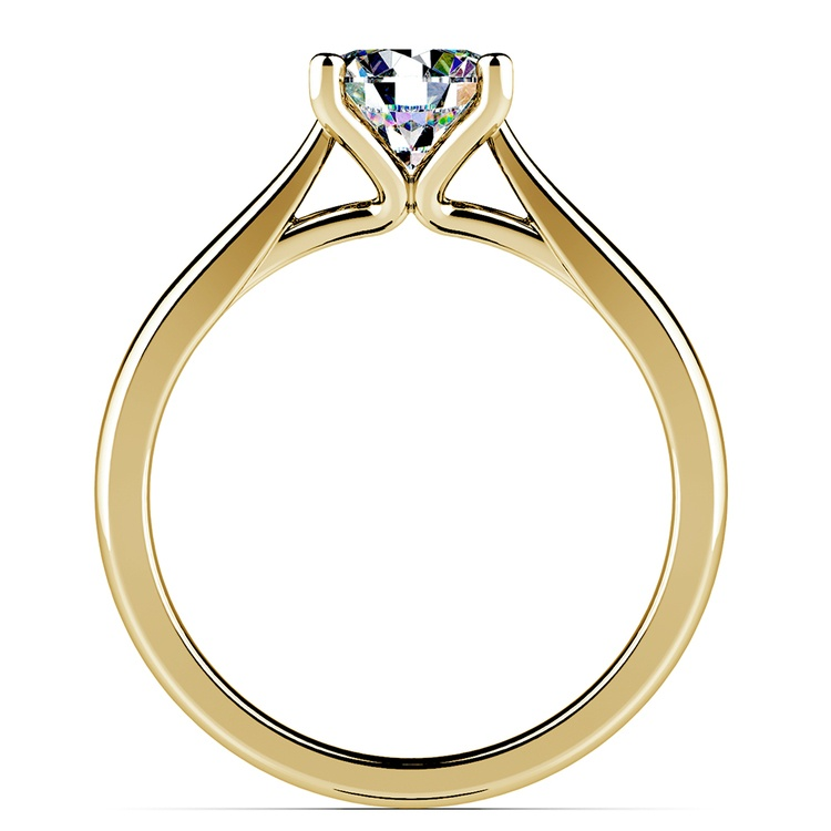 Taper Solitaire Engagement Ring in Yellow Gold | 02