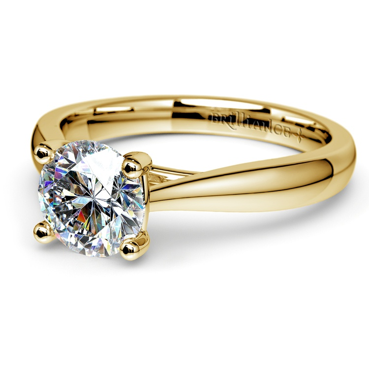 Taper Solitaire Engagement Ring in Yellow Gold | 04
