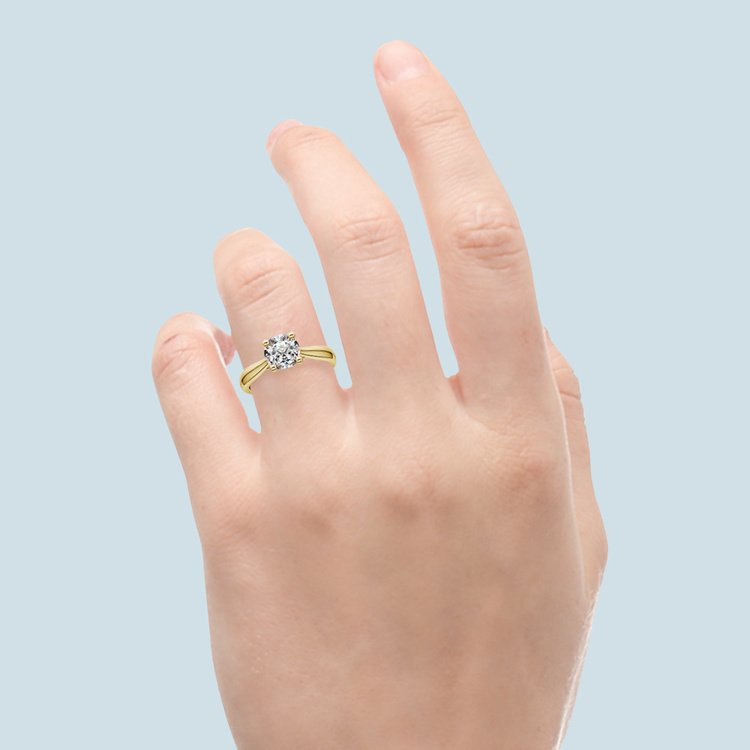 Taper Solitaire Engagement Ring in Yellow Gold | 05