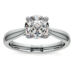 Taper Solitaire Engagement Ring in White Gold | Thumbnail 01