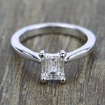 Taper Solitaire Engagement Ring in White Gold | Thumbnail 05