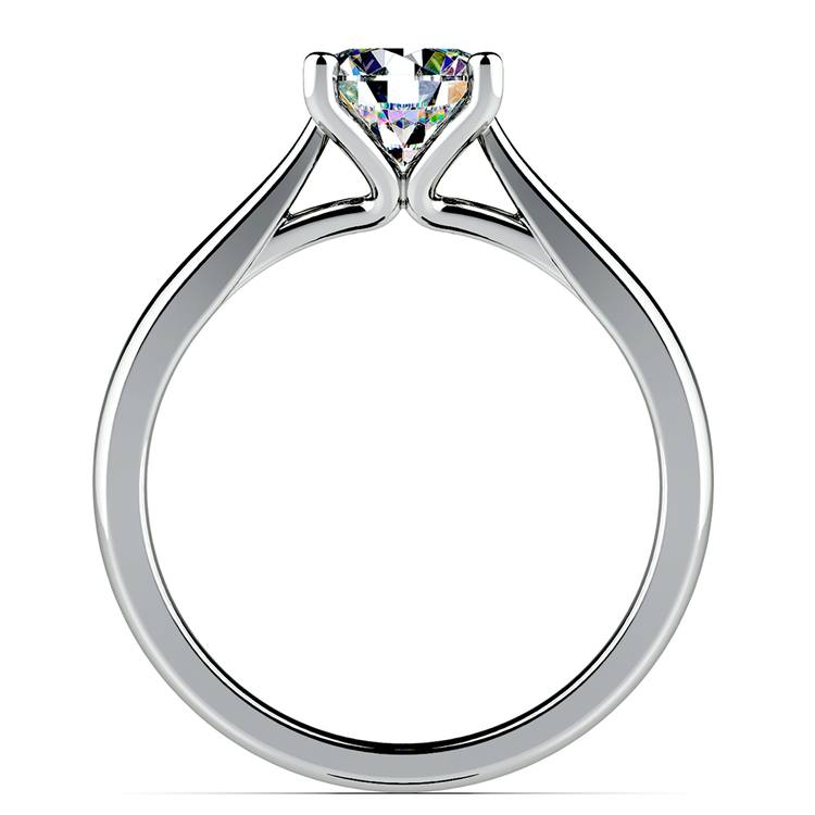 Taper Solitaire Engagement Ring in White Gold | 02