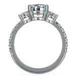 Three-Stone Diamond Scallop Engagement Ring in Platinum | Thumbnail 02