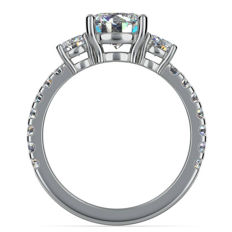 Three-Stone Diamond Scallop Engagement Ring in Platinum | 02