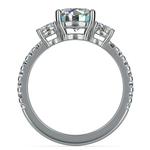 Three-Stone Diamond Scallop Engagement Ring in White Gold | Thumbnail 02