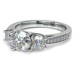 Three Stone Trellis Diamond Engagement Ring in Platinum | Thumbnail 04