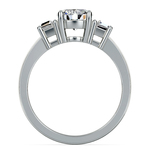 Trapezoid Diamond Engagement Ring in Platinum (1/3 ctw) | Thumbnail 03
