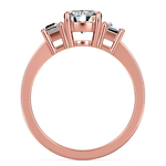 Trapezoid Diamond Engagement Ring in Rose Gold (1/3 ctw)   Thumbnail 03