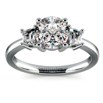 Trapezoid Diamond Engagement Ring in White Gold (1/3 ctw) | Thumbnail 01