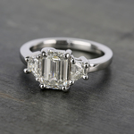Trapezoid Diamond Engagement Ring in White Gold (1/3 ctw) | Thumbnail 05