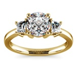 Trapezoid Diamond Engagement Ring in Yellow Gold (1/3 ctw) | Thumbnail 01