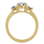 Trapezoid Diamond Engagement Ring in Yellow Gold (1/3 ctw) | Thumbnail 02