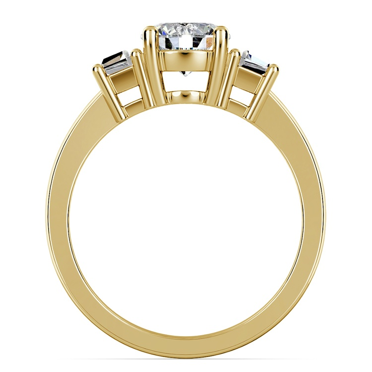 Trapezoid Diamond Engagement Ring in Yellow Gold (1/3 ctw) | 02