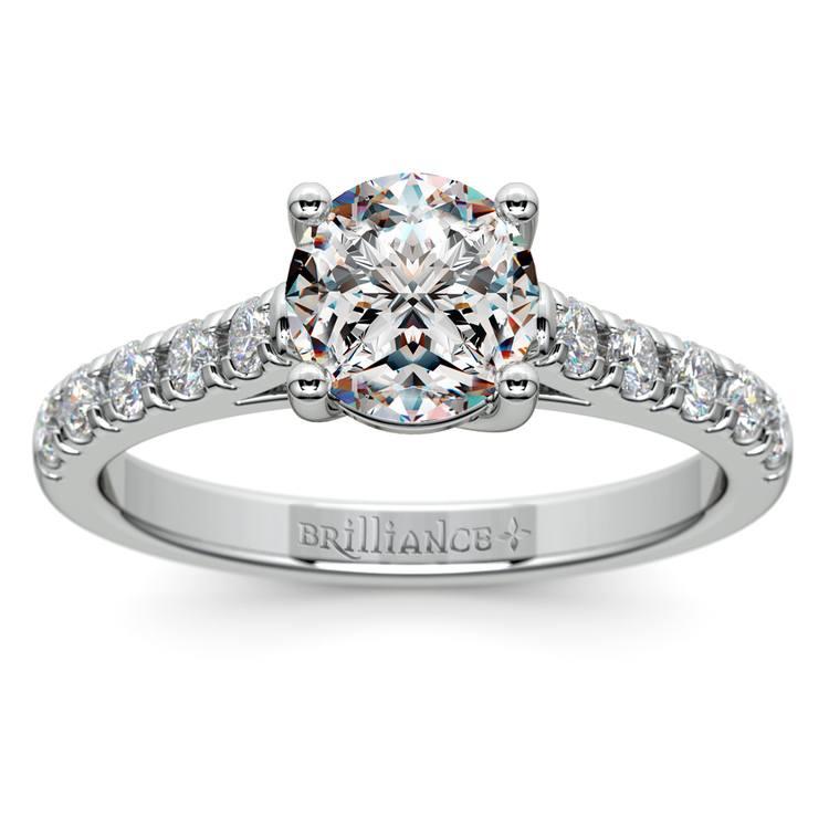 Trellis Diamond Engagement Ring in Platinum | 01