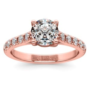Trellis Diamond Engagement Ring in Rose Gold