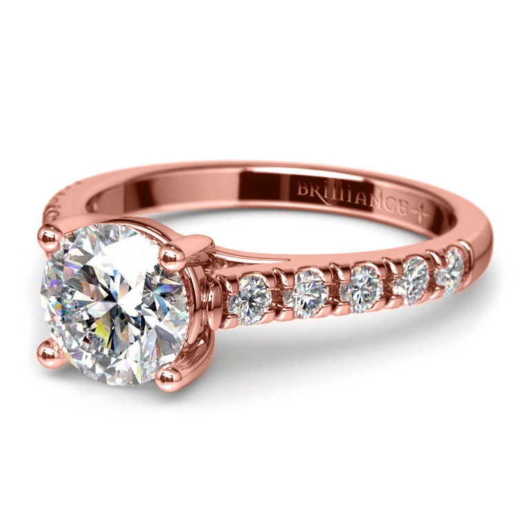 Trellis Diamond Engagement Ring in Rose Gold | 04
