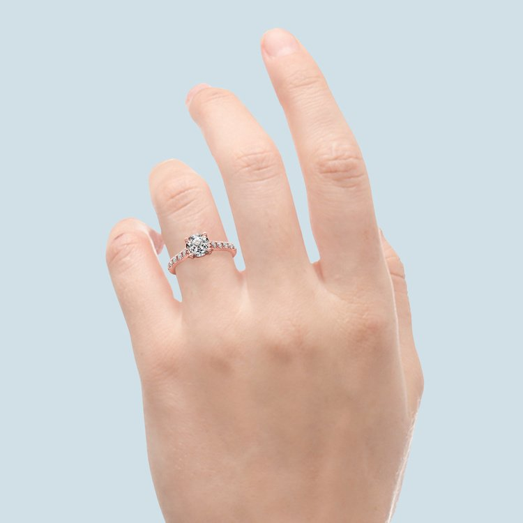 Trellis Diamond Engagement Ring in Rose Gold | 06