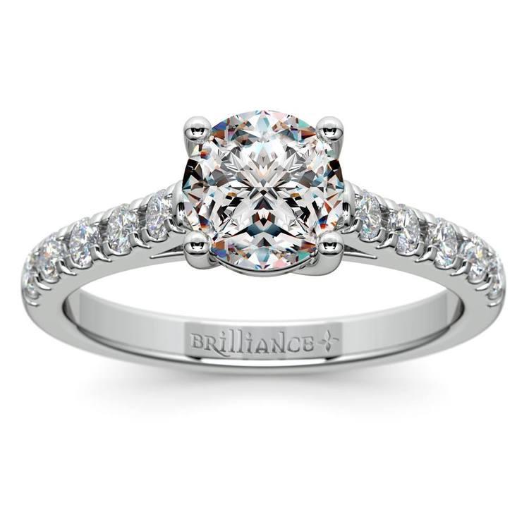 Trellis Diamond Engagement Ring in White Gold | 01
