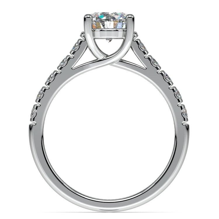 Trellis Diamond Engagement Ring in White Gold | 02