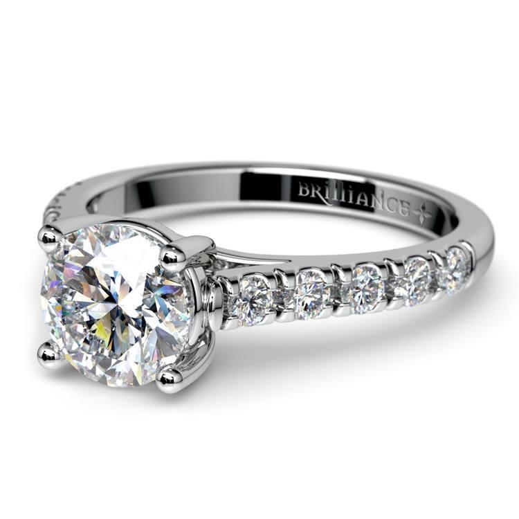 Trellis Diamond Engagement Ring in White Gold | 04