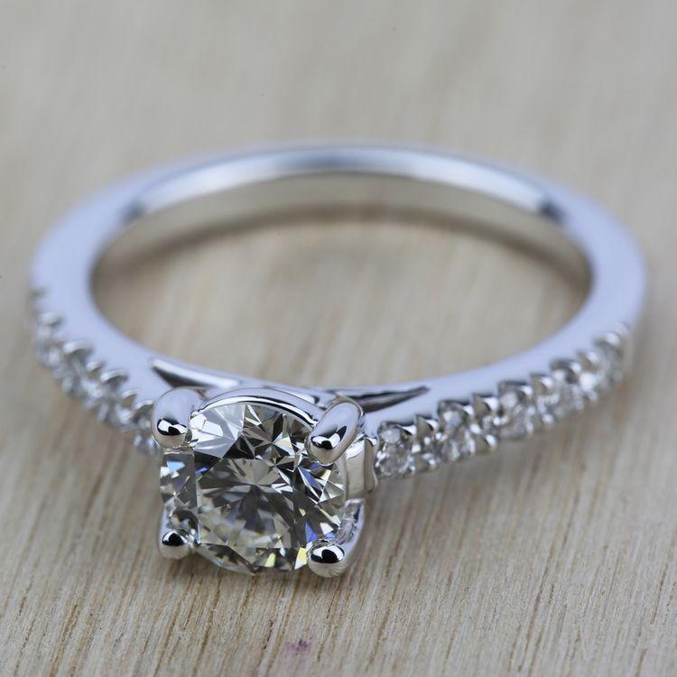 Trellis Diamond Engagement Ring in White Gold | 05