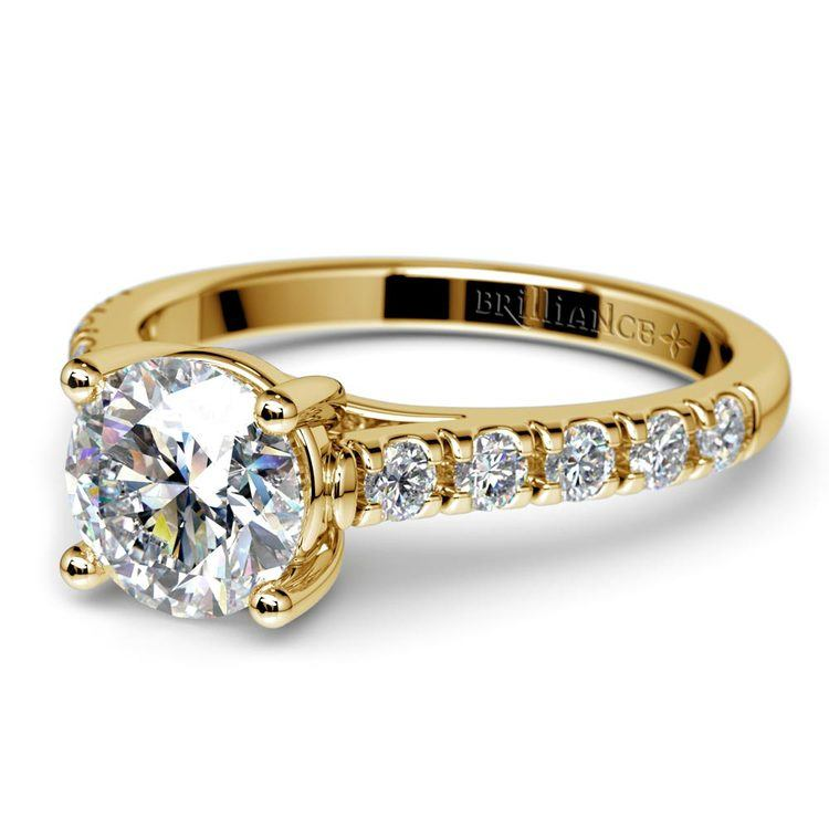 Trellis Diamond Engagement Ring in Yellow Gold | 04