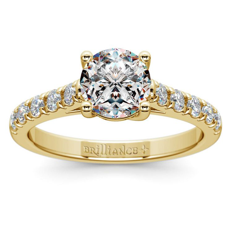 Trellis Diamond Engagement Ring in Yellow Gold | 01