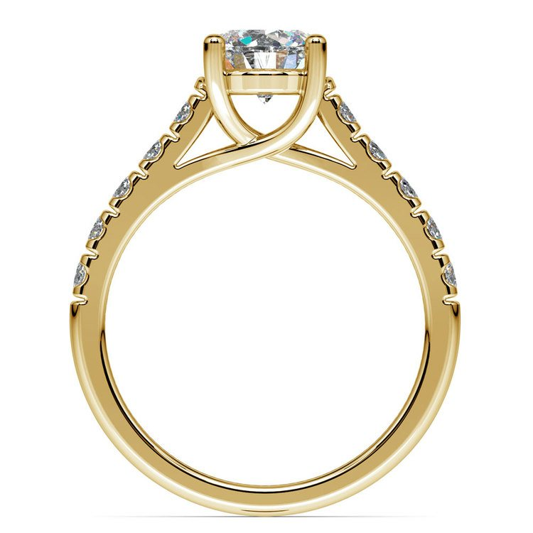 Trellis Diamond Engagement Ring in Yellow Gold | 02
