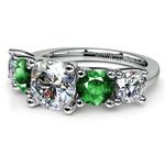 Trellis Emerald and Diamond Gemstone Engagement Ring in Platinum | Thumbnail 04